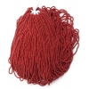 Seedbead Opaque Dark Red 10/0 Strung